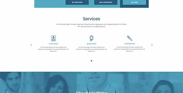 MedTime - One Page HTML Template for Medical Screenshot 2