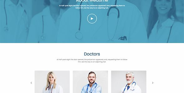 MedTime - One Page HTML Template for Medical Screenshot 3
