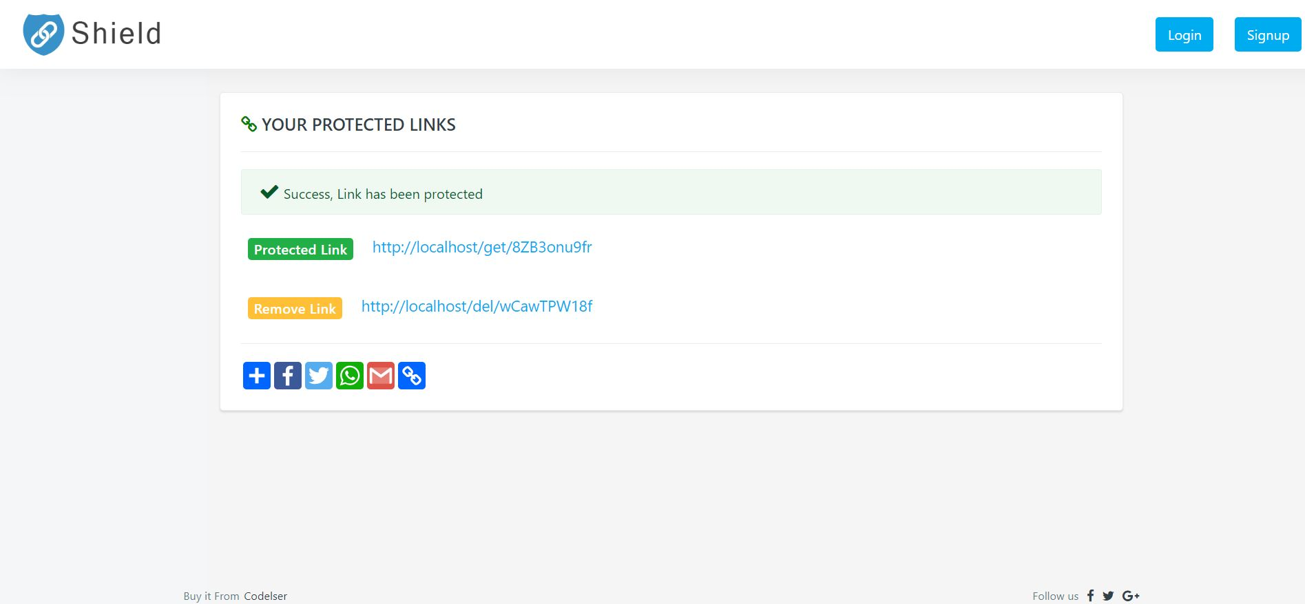 LinkShield - Link Protecting PHP Script Screenshot 7