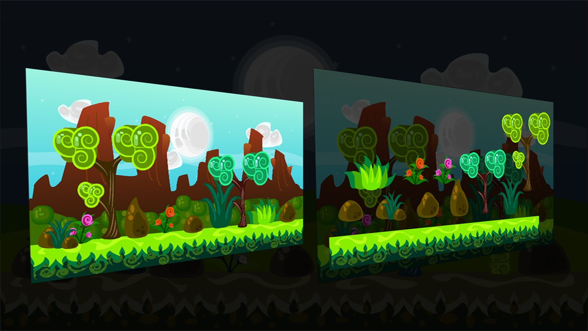 2D Vector Game Backgrounds Screenshot 1