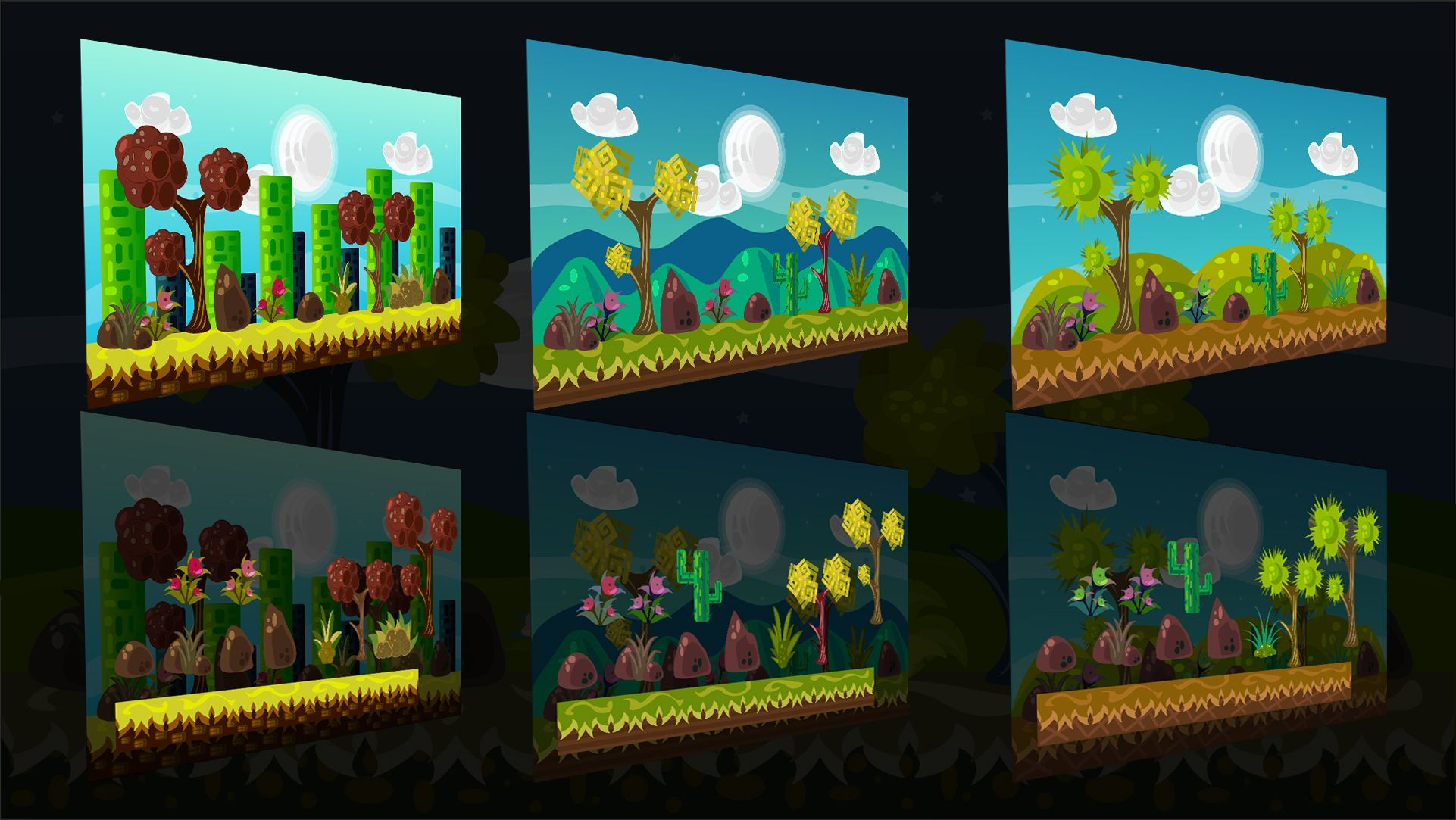 2D Vector Game Backgrounds Screenshot 2