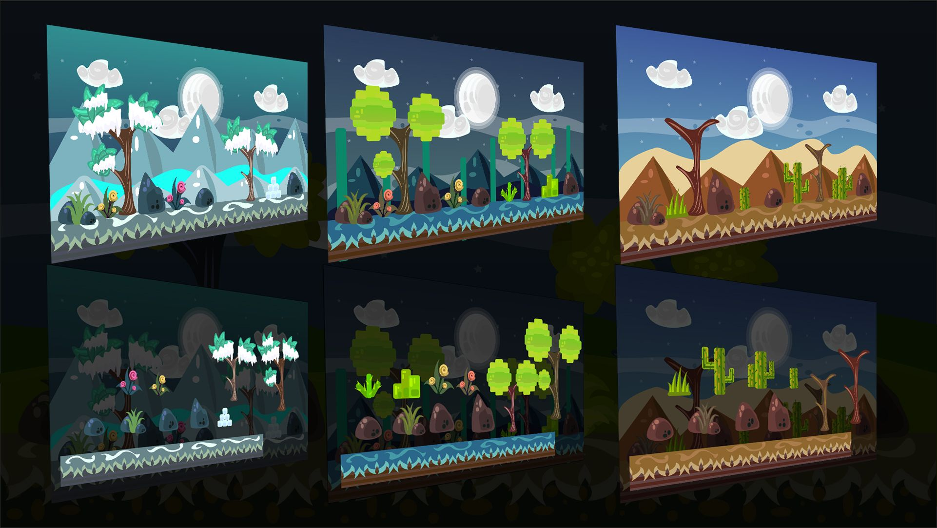 2D Vector Game Backgrounds Screenshot 4
