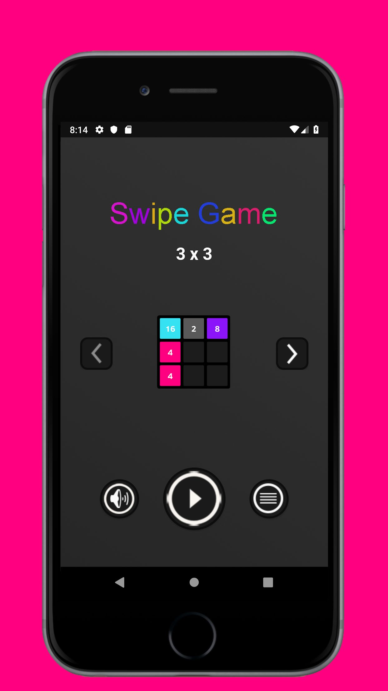 Swipe Game  Version Pro -  Android  Template  Screenshot 1