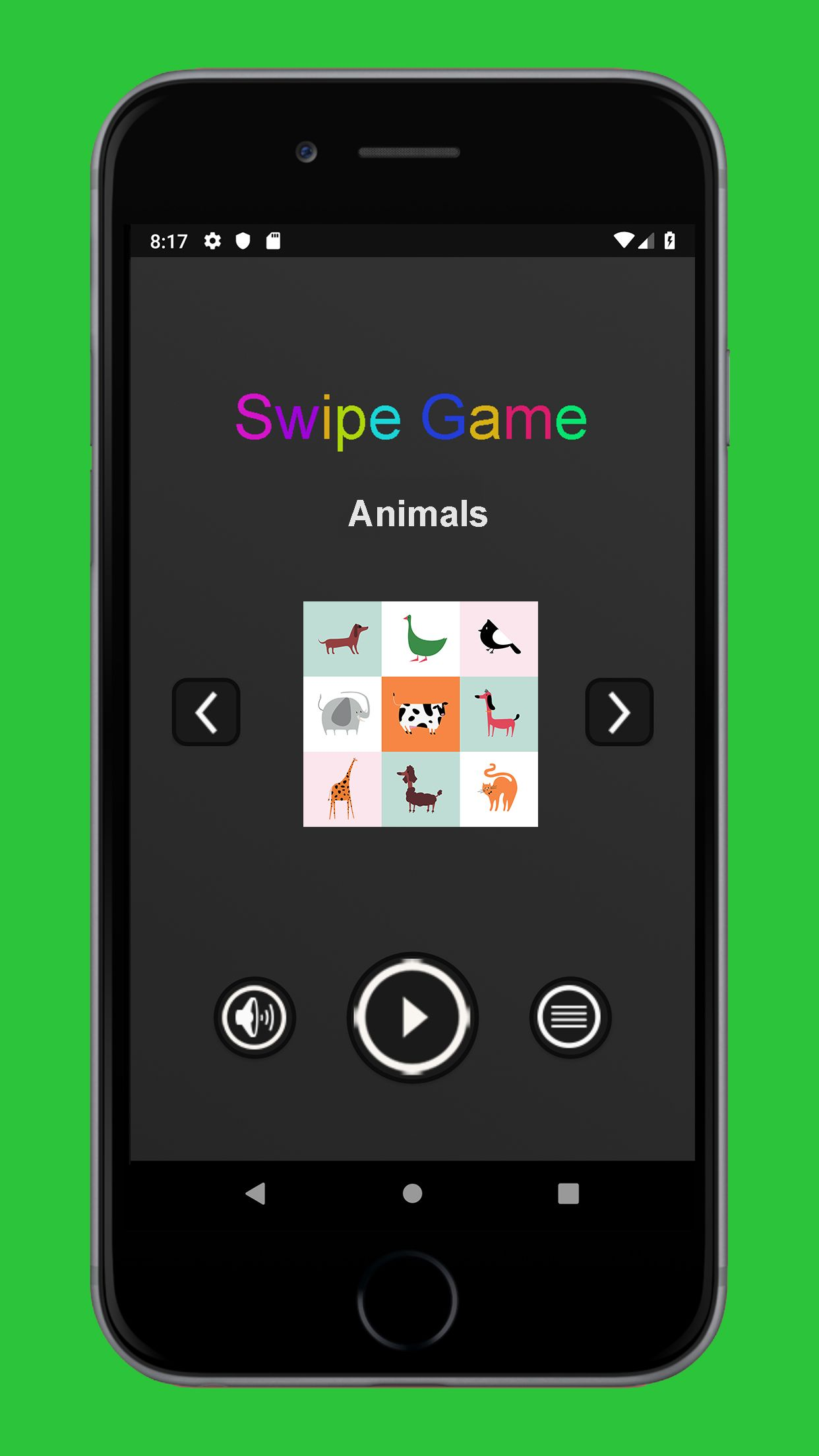 Swipe Game  Version Pro -  Android  Template  Screenshot 3