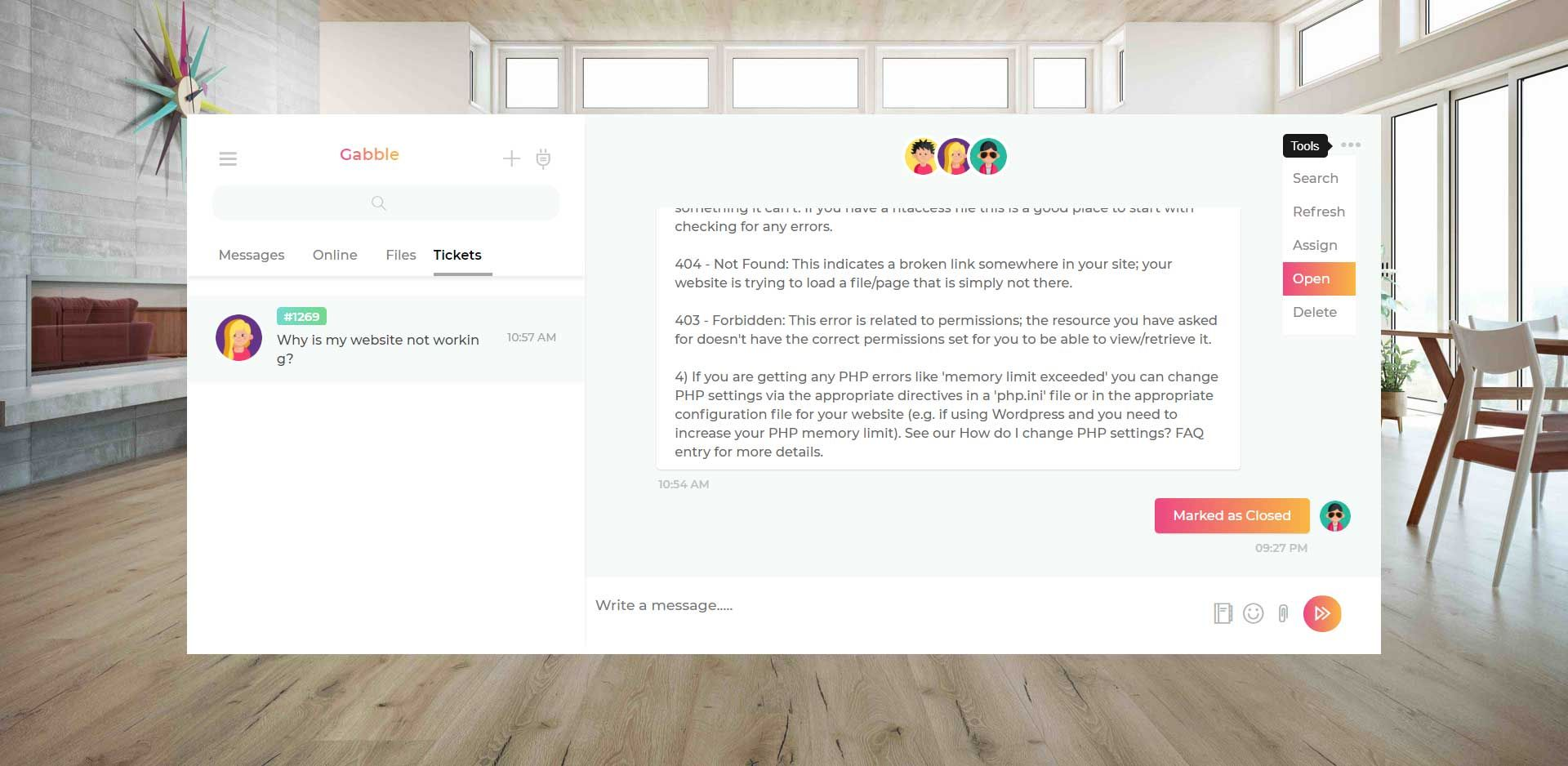 Gabble - Customer Messaging Platform And Ticketing Screenshot 5