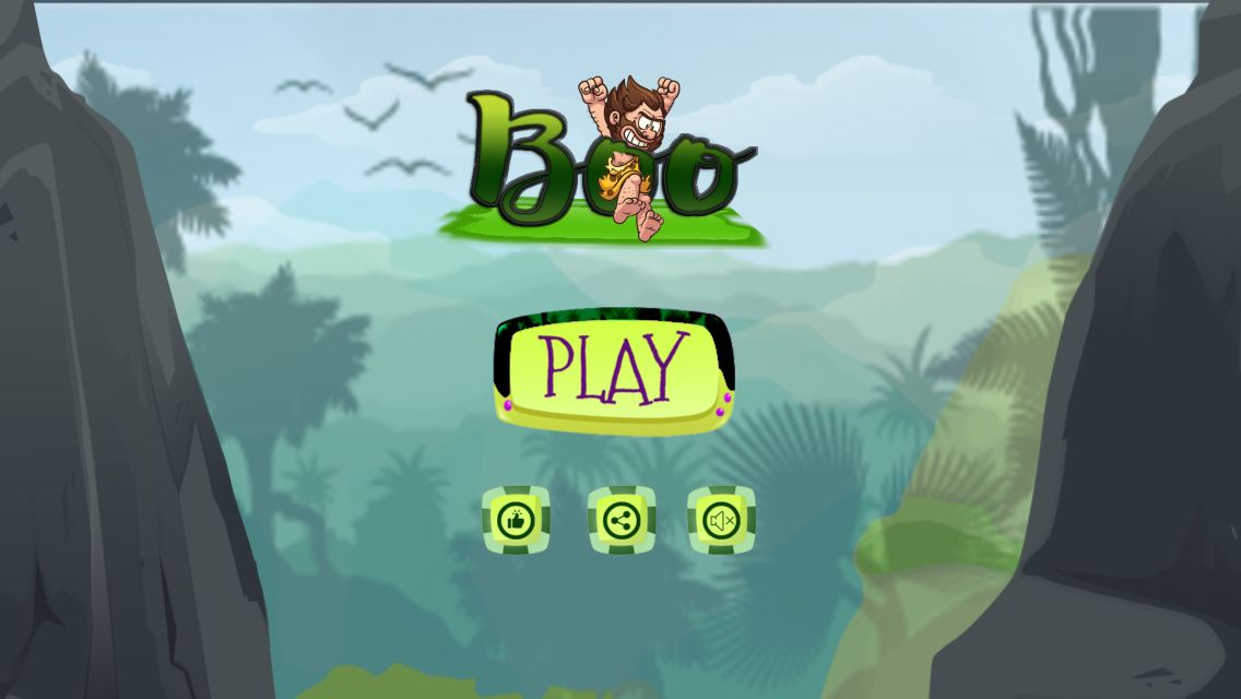 Boo Caveman - Buildbox Template Screenshot 2