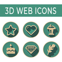 70 3D Retro Web Communication Icons