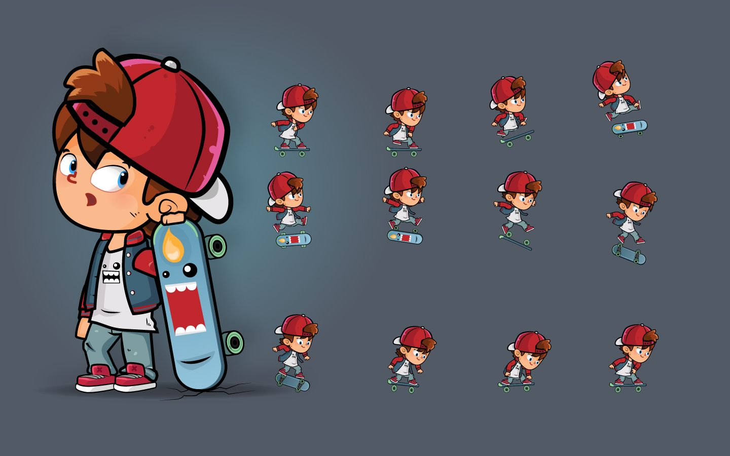 Skater Boy Character Sprites Screenshot 1