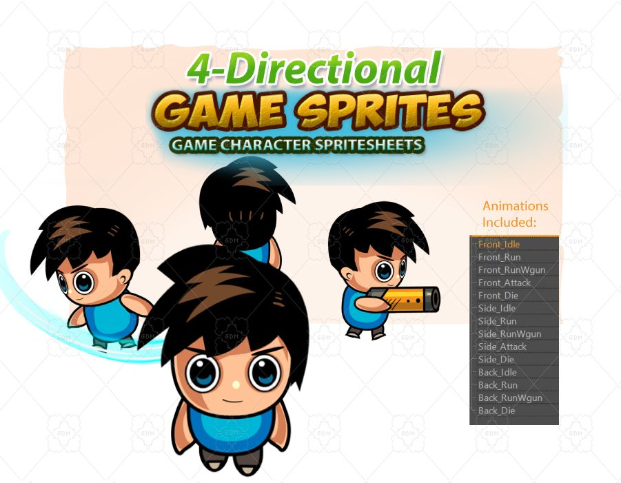 4 Directional 2D Game Sprites 01 Screenshot 1