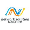 network-solution-logo-template