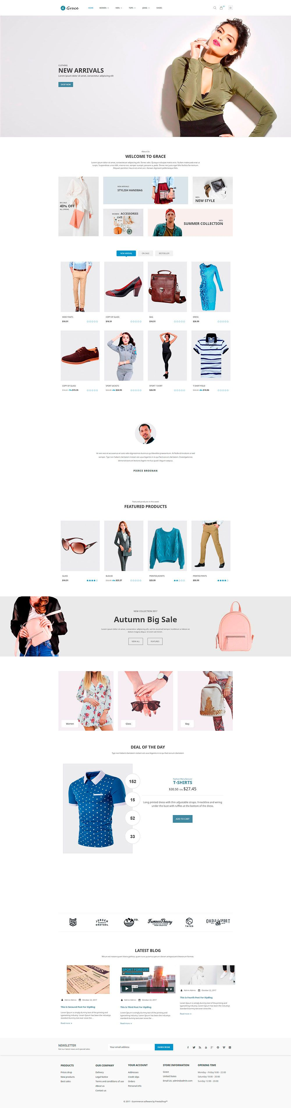 Grace Fashion - PrestaShop Theme Screenshot 1
