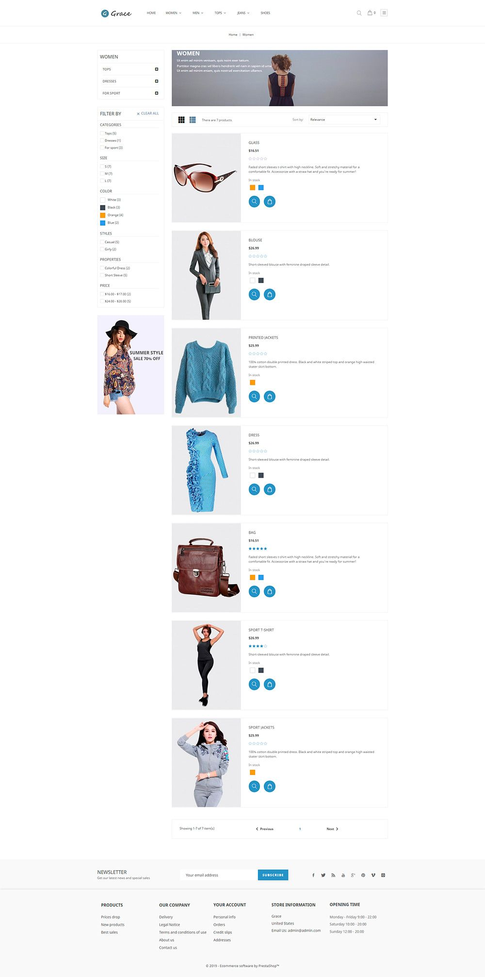 Grace Fashion - PrestaShop Theme Screenshot 3