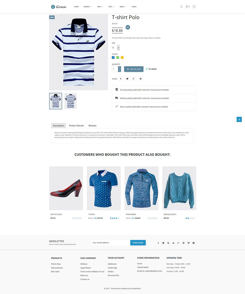 Grace Fashion - PrestaShop Theme Screenshot 4