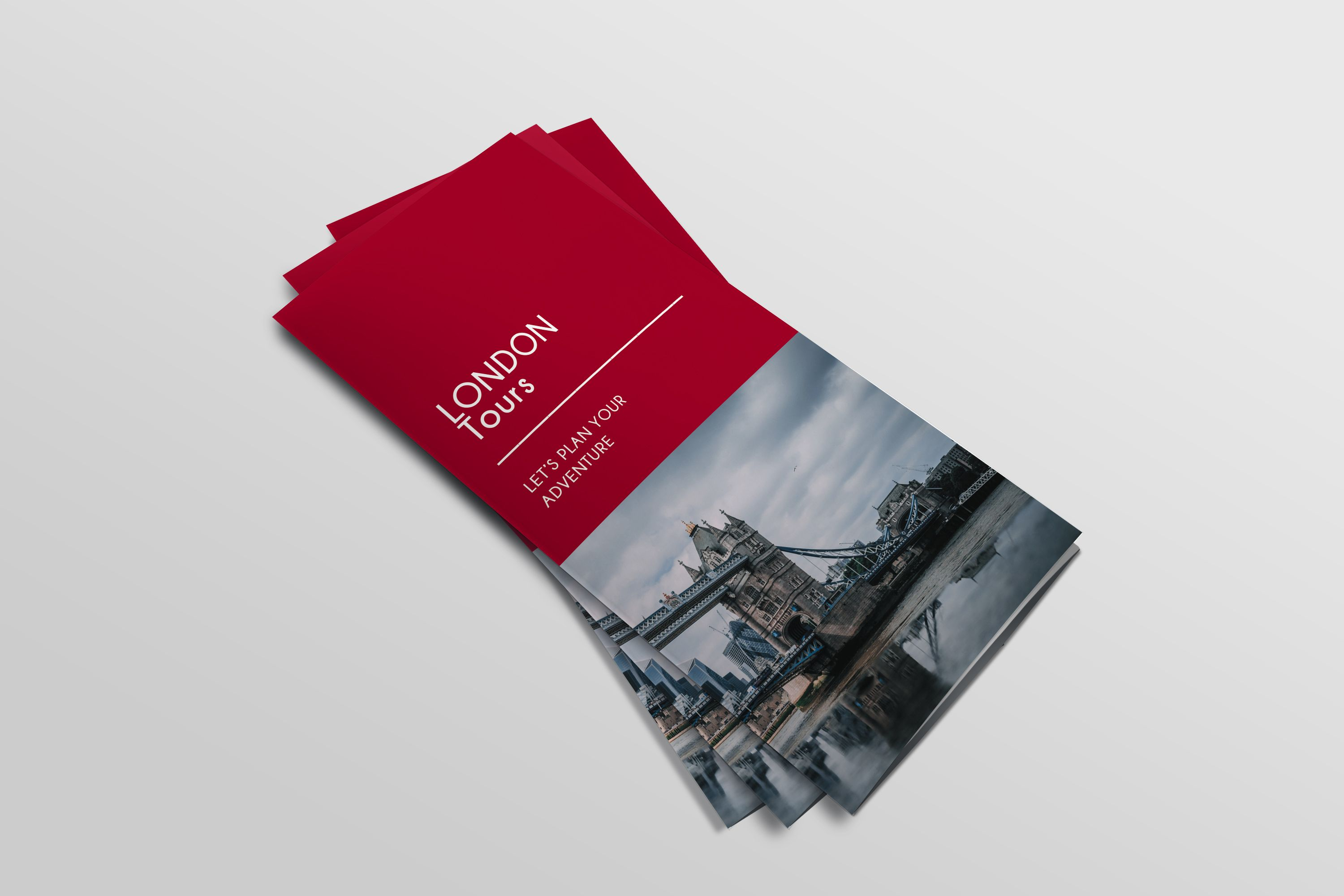 Trifold Agency Travel Brochure Template Screenshot 1