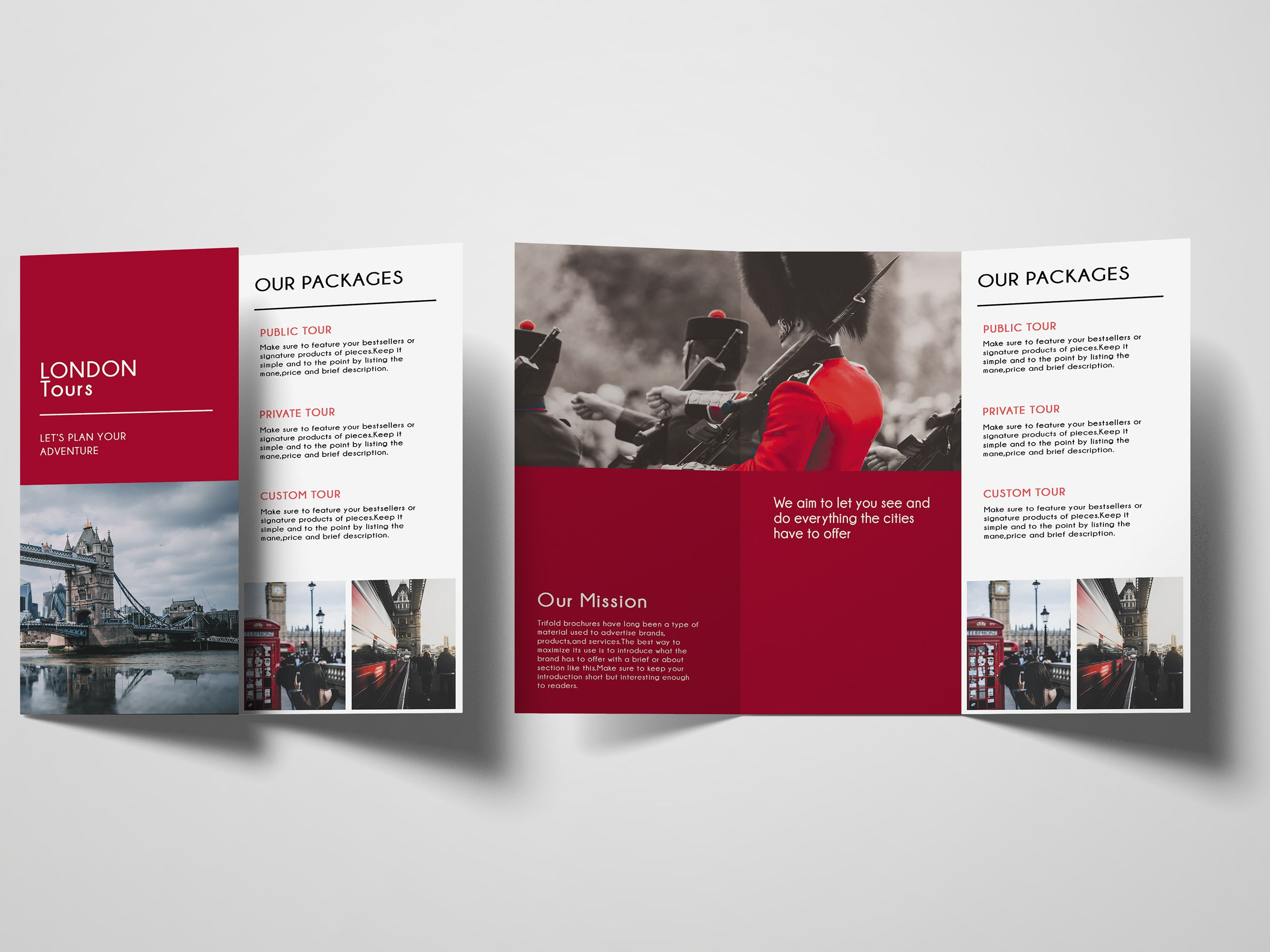 Trifold Agency Travel Brochure Template Screenshot 5