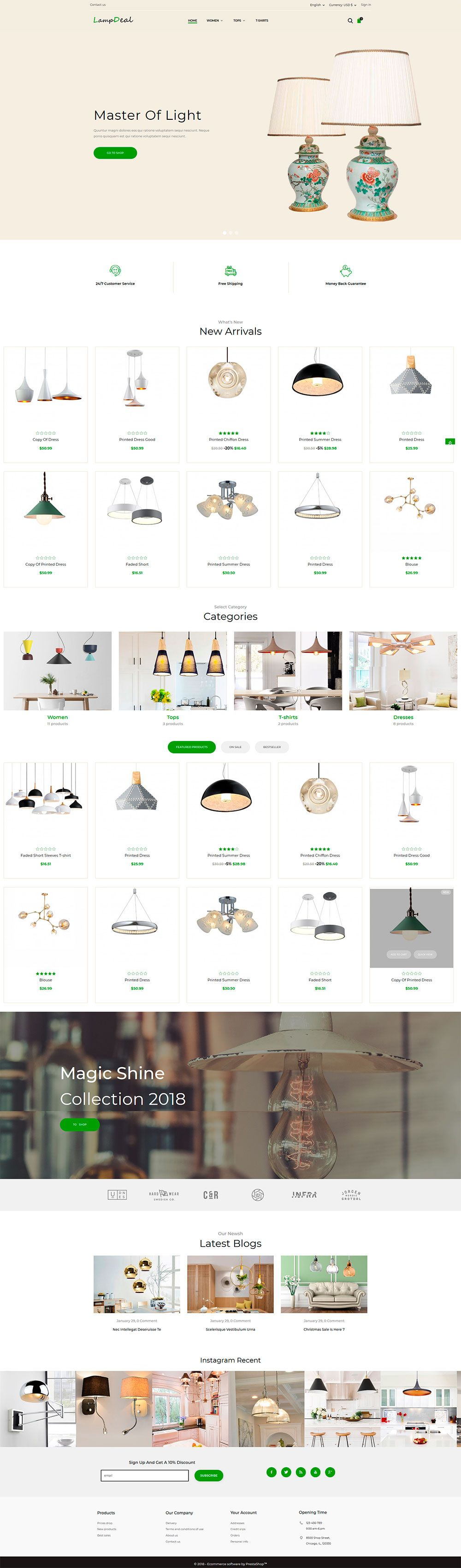 LampDeal Furniture - PrestaShop Theme  Screenshot 1