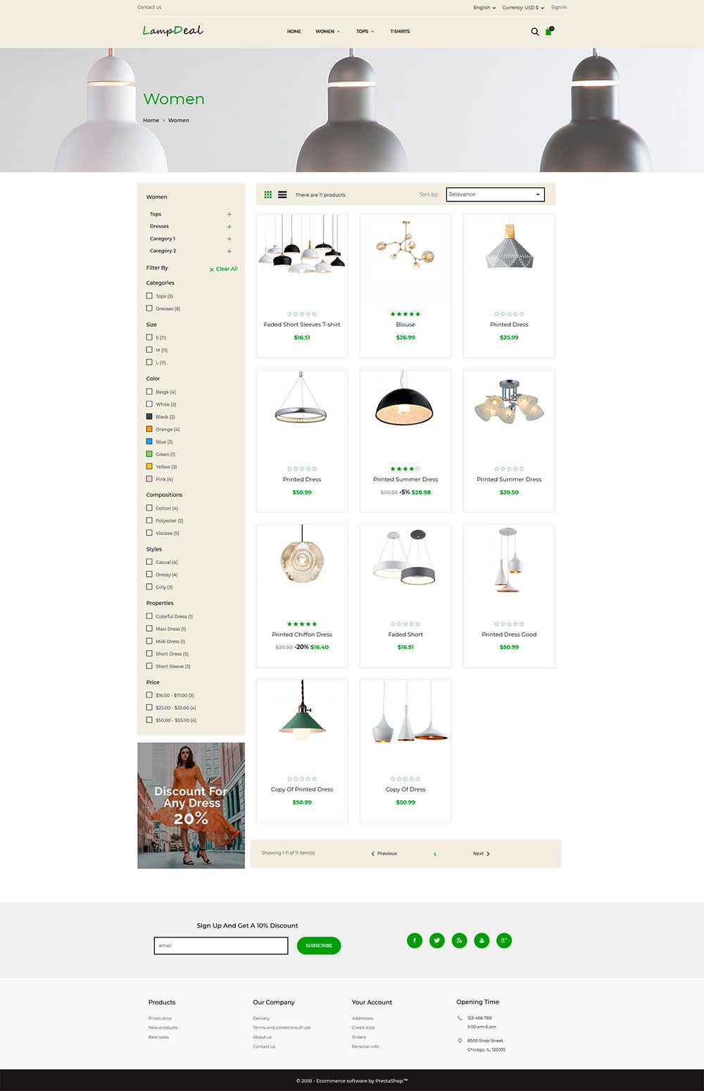 LampDeal Furniture - PrestaShop Theme  Screenshot 2