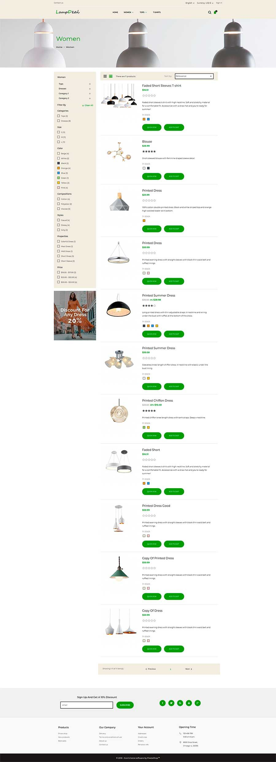LampDeal Furniture - PrestaShop Theme  Screenshot 3