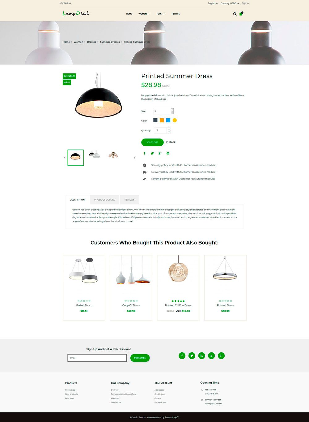 LampDeal Furniture - PrestaShop Theme  Screenshot 4