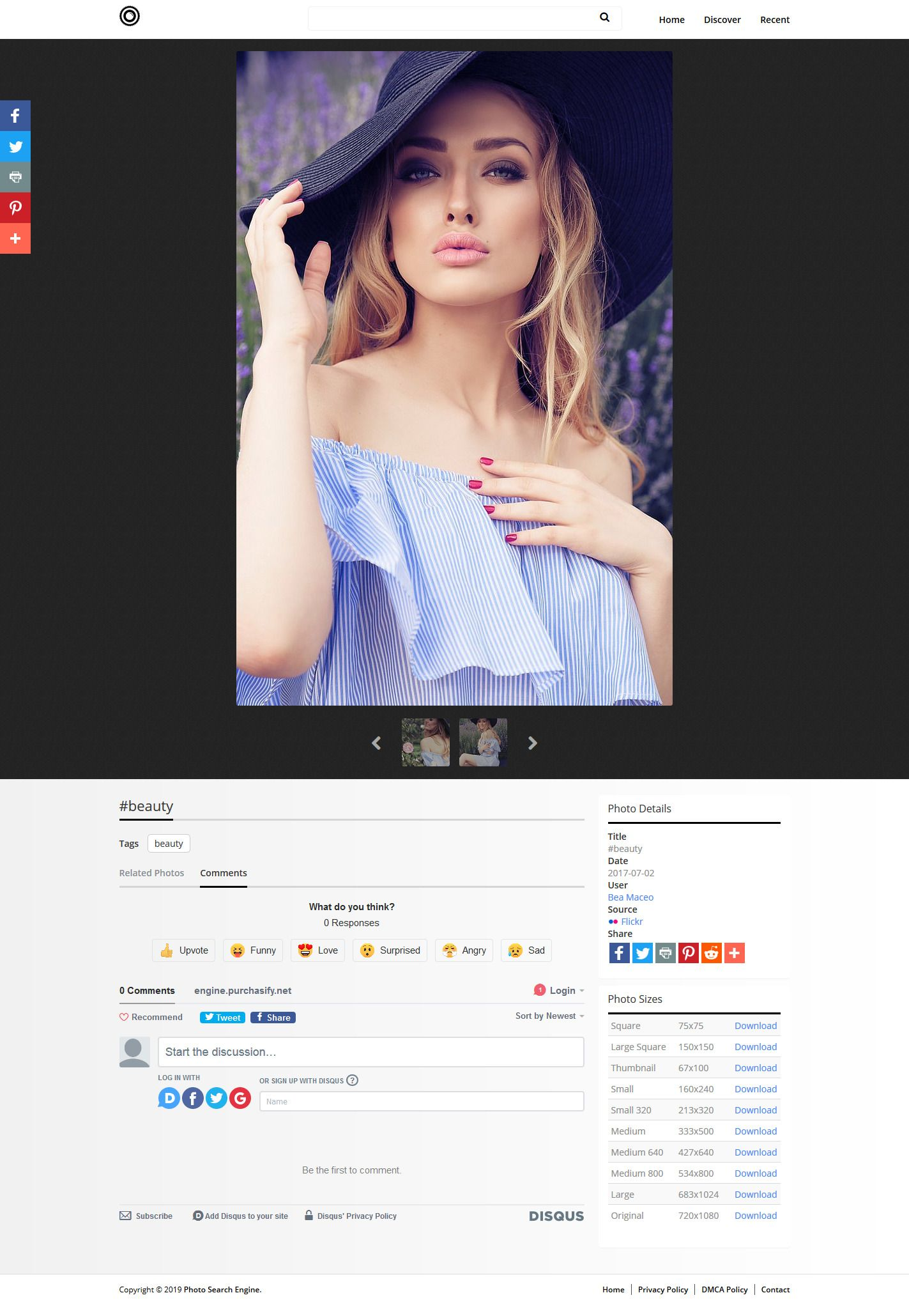 Photo Search Engine Script PHP Screenshot 1