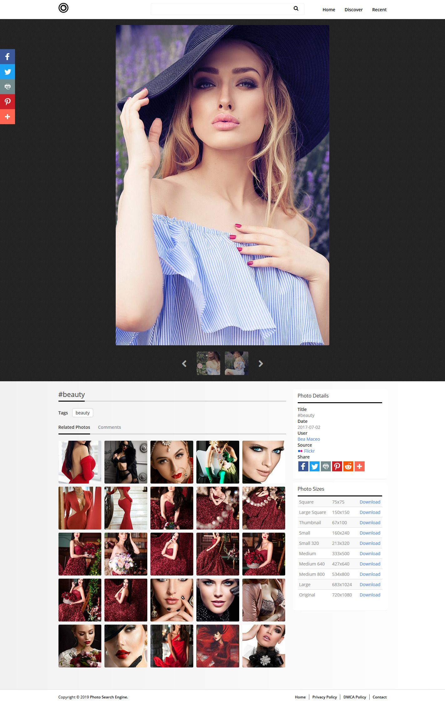 Photo Search Engine Script PHP Screenshot 2