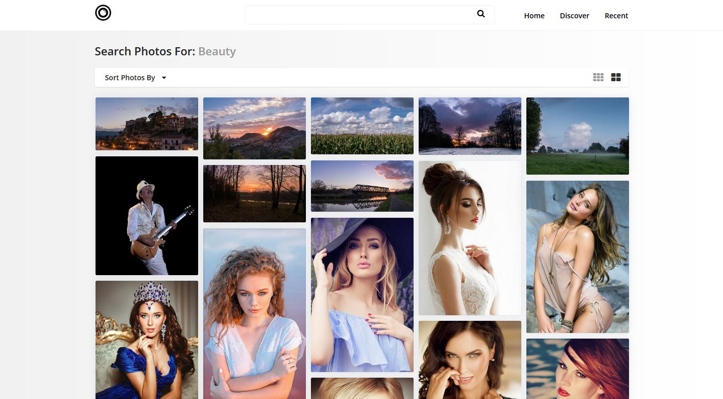 Photo Search Engine Script PHP Screenshot 5