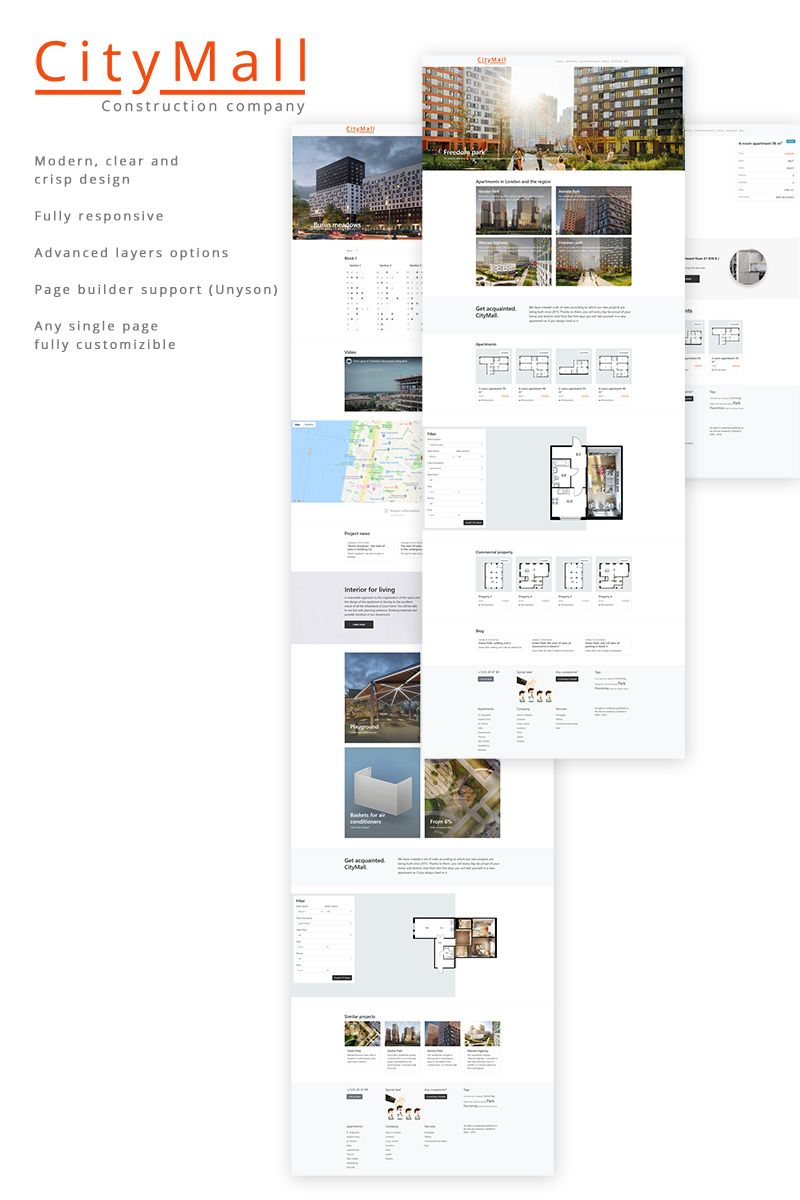 CityMall WordPress Theme Screenshot 1