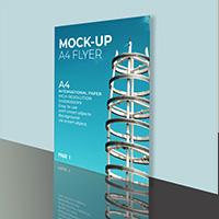 5 Mock-Ups Flyer PSD Templates A4
