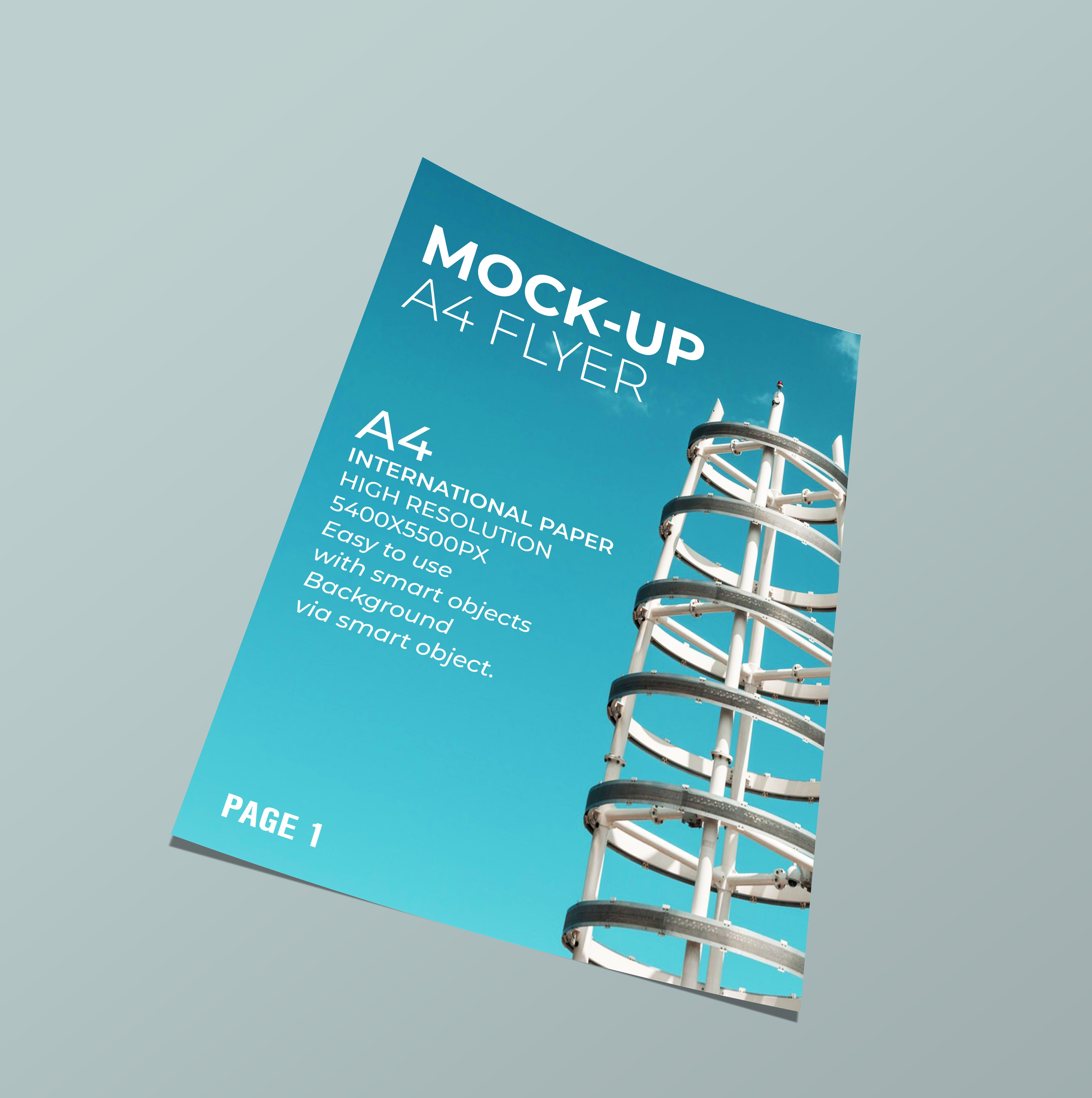 5 Mock-Up Flyer PSD Templates A4  Screenshot 1
