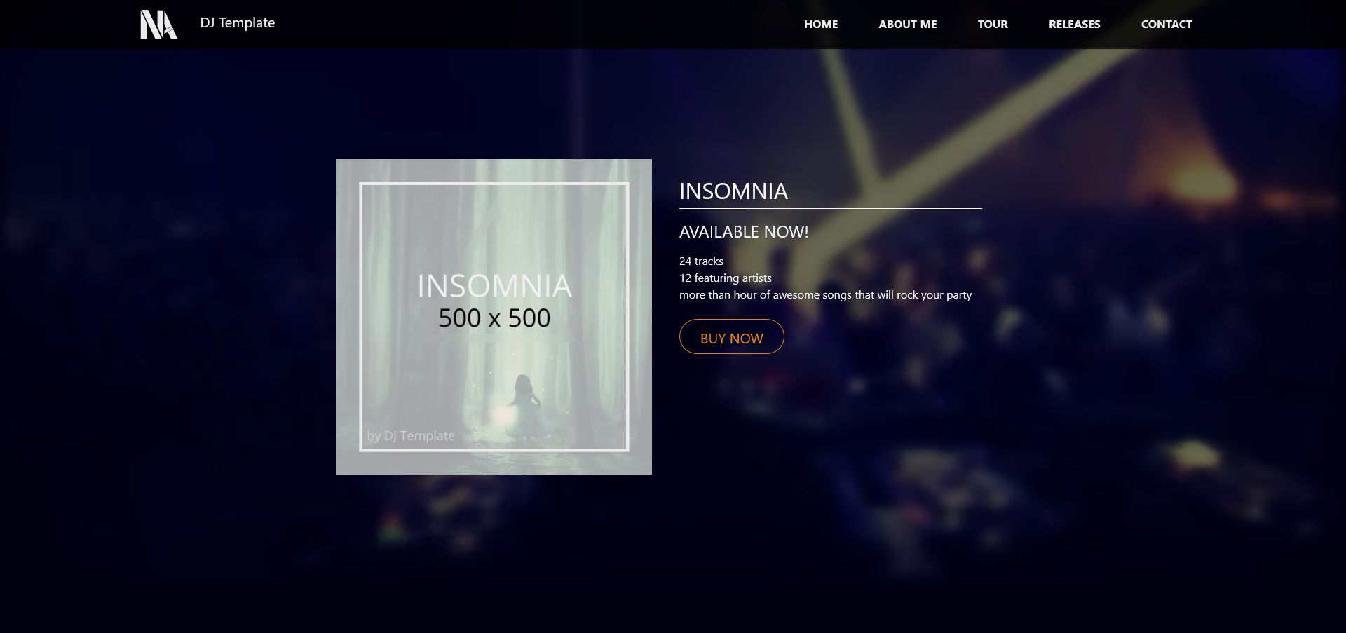 Music - Person Page Responsive Template Screenshot 3