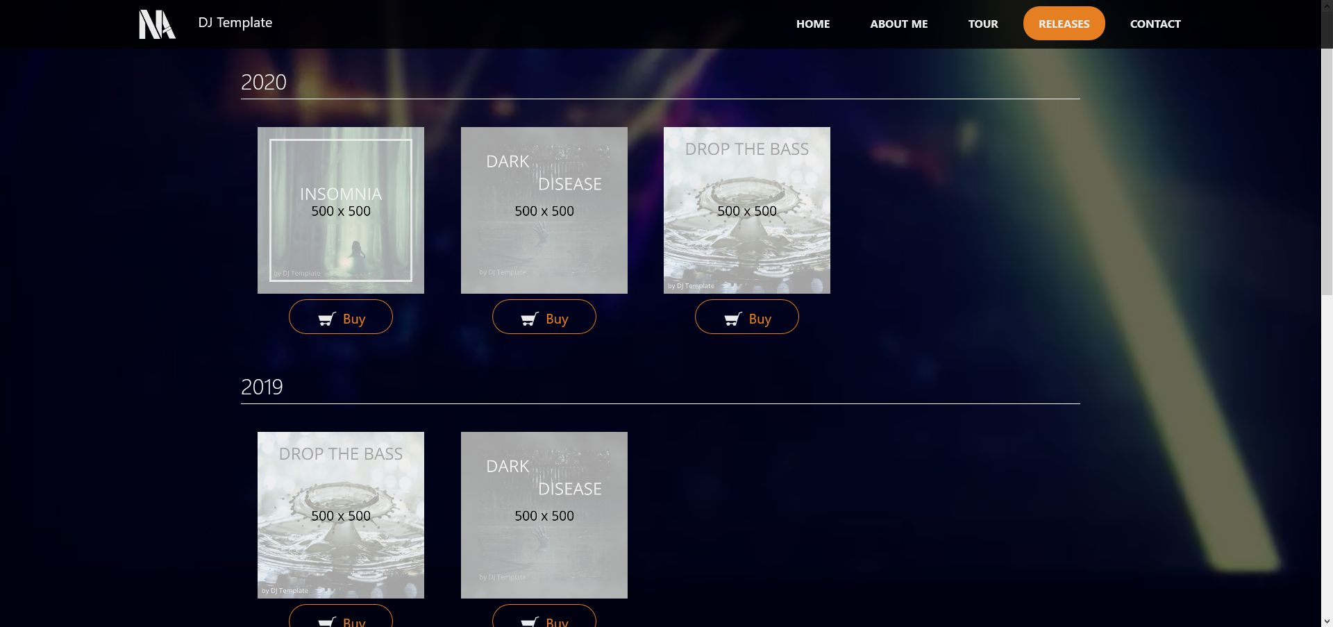 Music - Person Page Responsive Template Screenshot 4