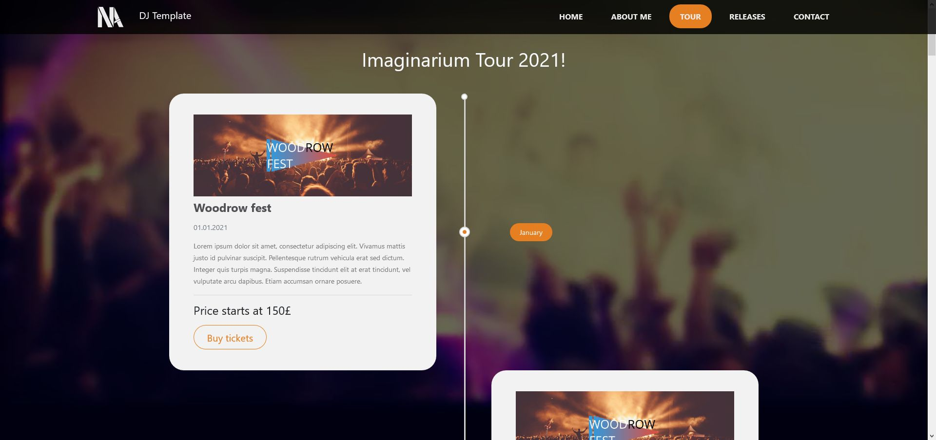 Music - Person Page Responsive Template Screenshot 5