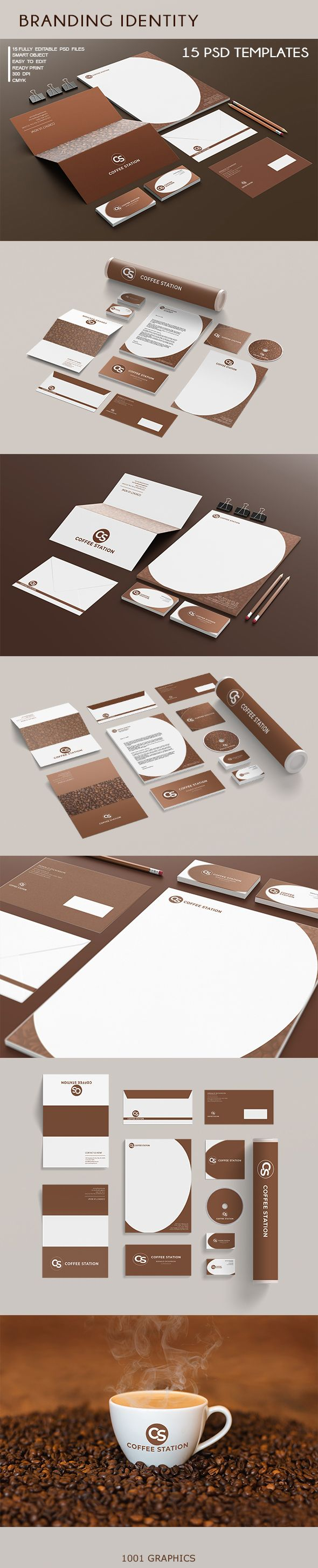 Branding Identity - 15 PSD Templates Screenshot 1