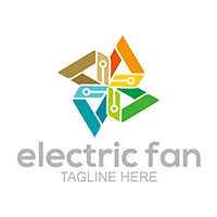 Electric Fan - Logo Template