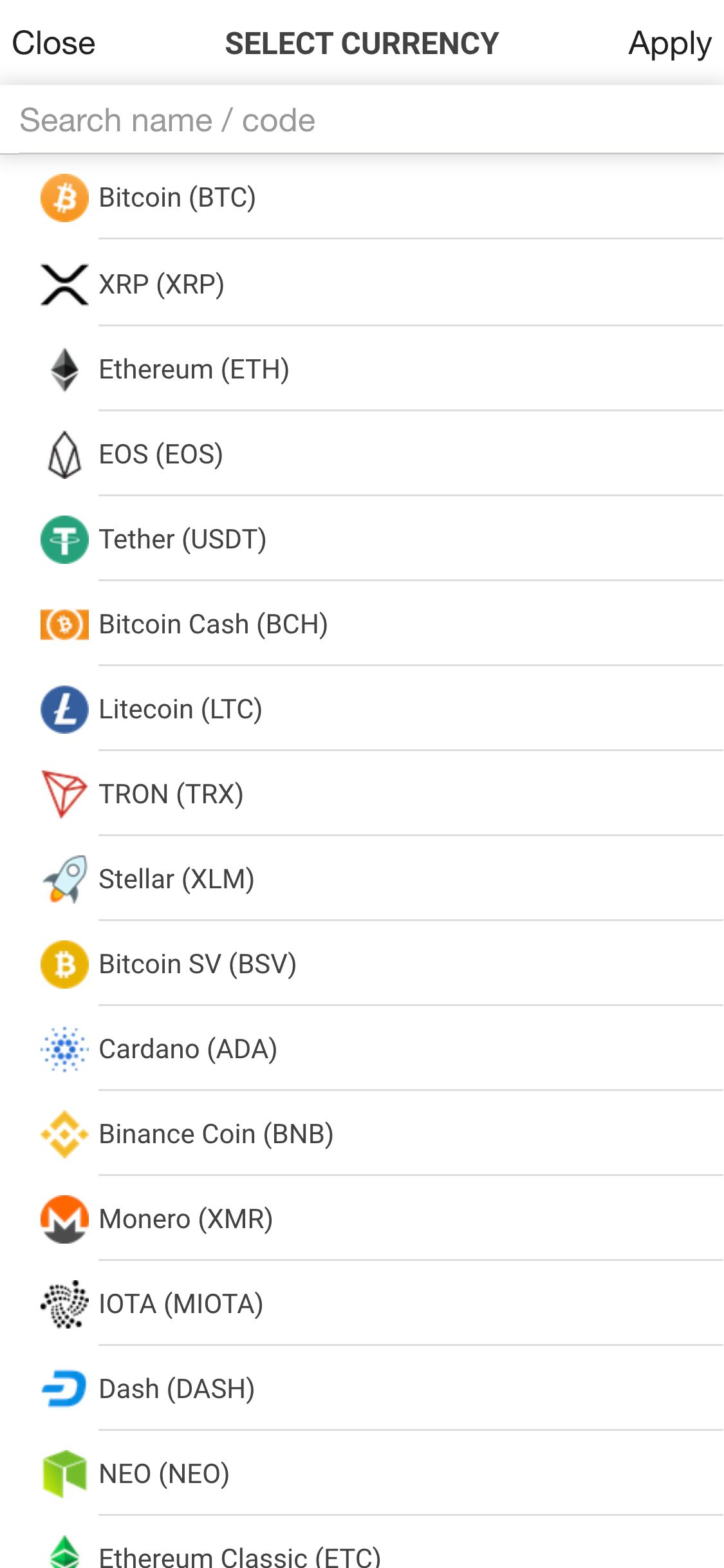 Ionic Crypto Currency Full App Screenshot 9