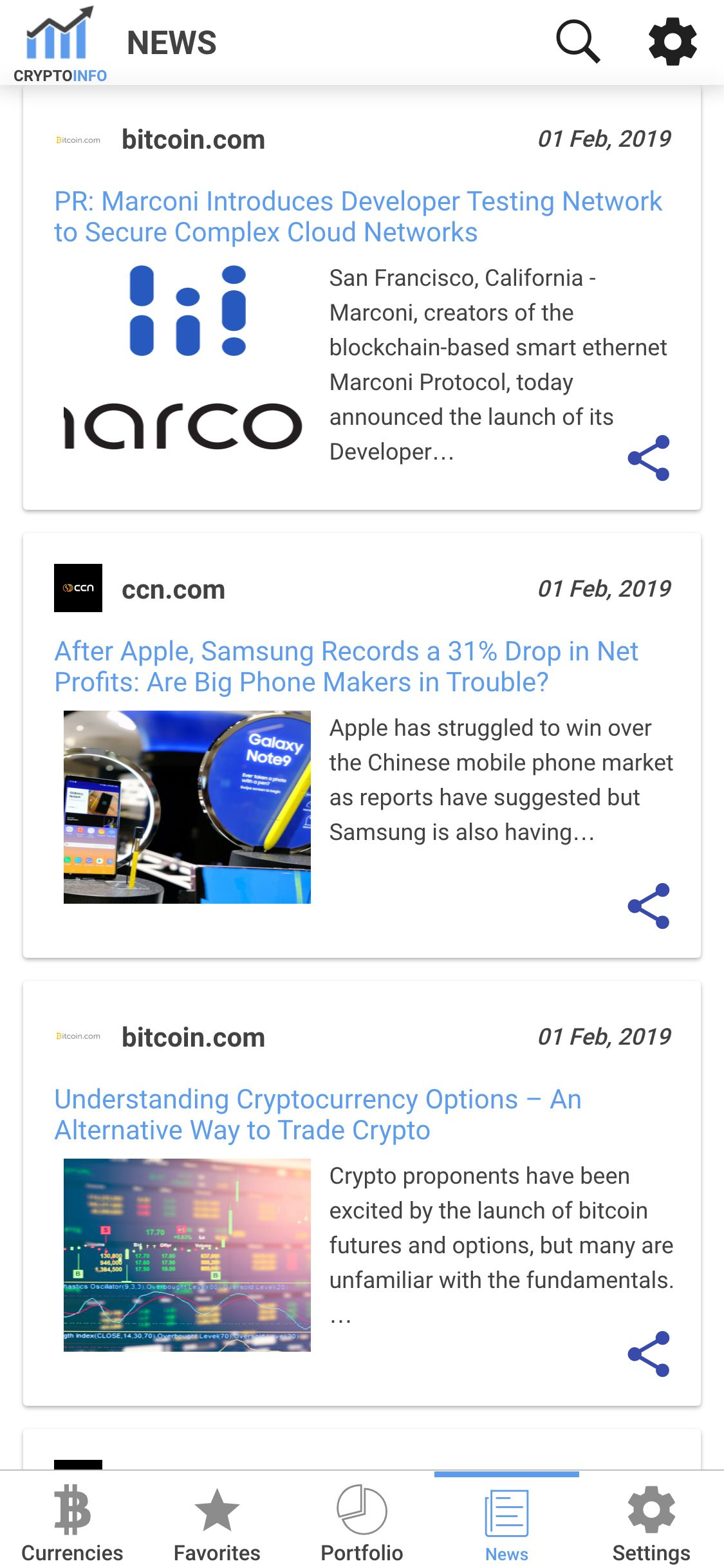 Ionic Crypto Currency Full App Screenshot 11