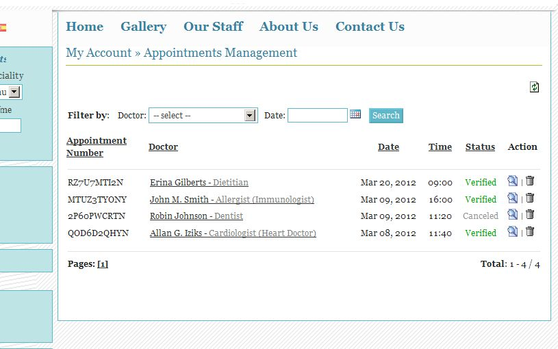 PHP Medical Appointment Script  Screenshot 2