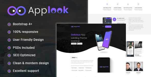 Applook -  App Landing Page Screenshot 1