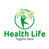 health-life-logo-template