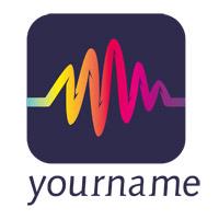 Radio Station Button Logo