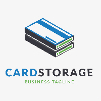 Card Storage Logo Template