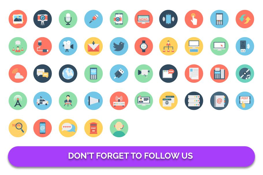 155 Communication Color Isolated Vector icon Pack Screenshot 3