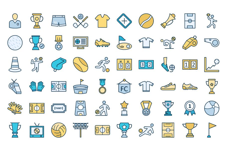 130 Football Event Vector Icons Screenshot 3