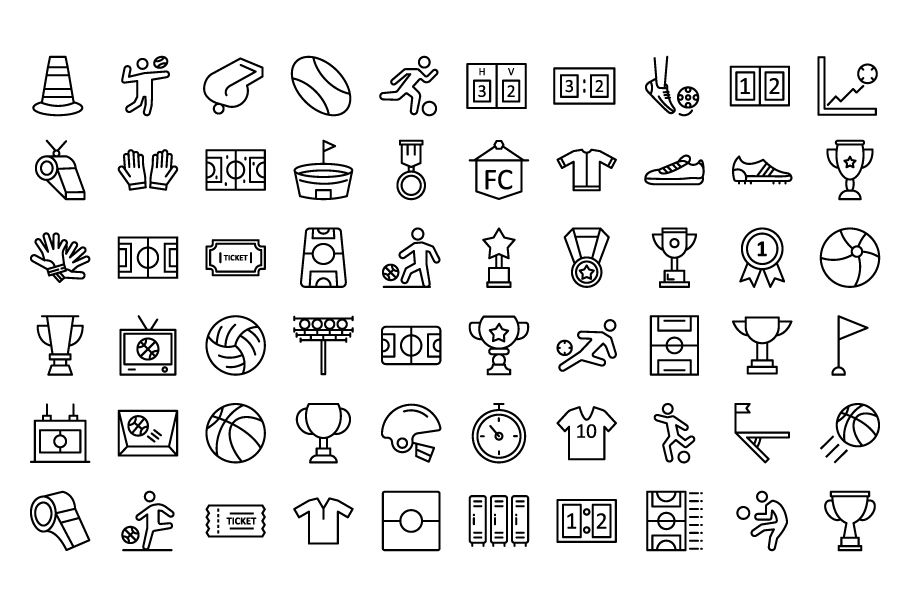 130 Football Event Vector Icons Screenshot 8