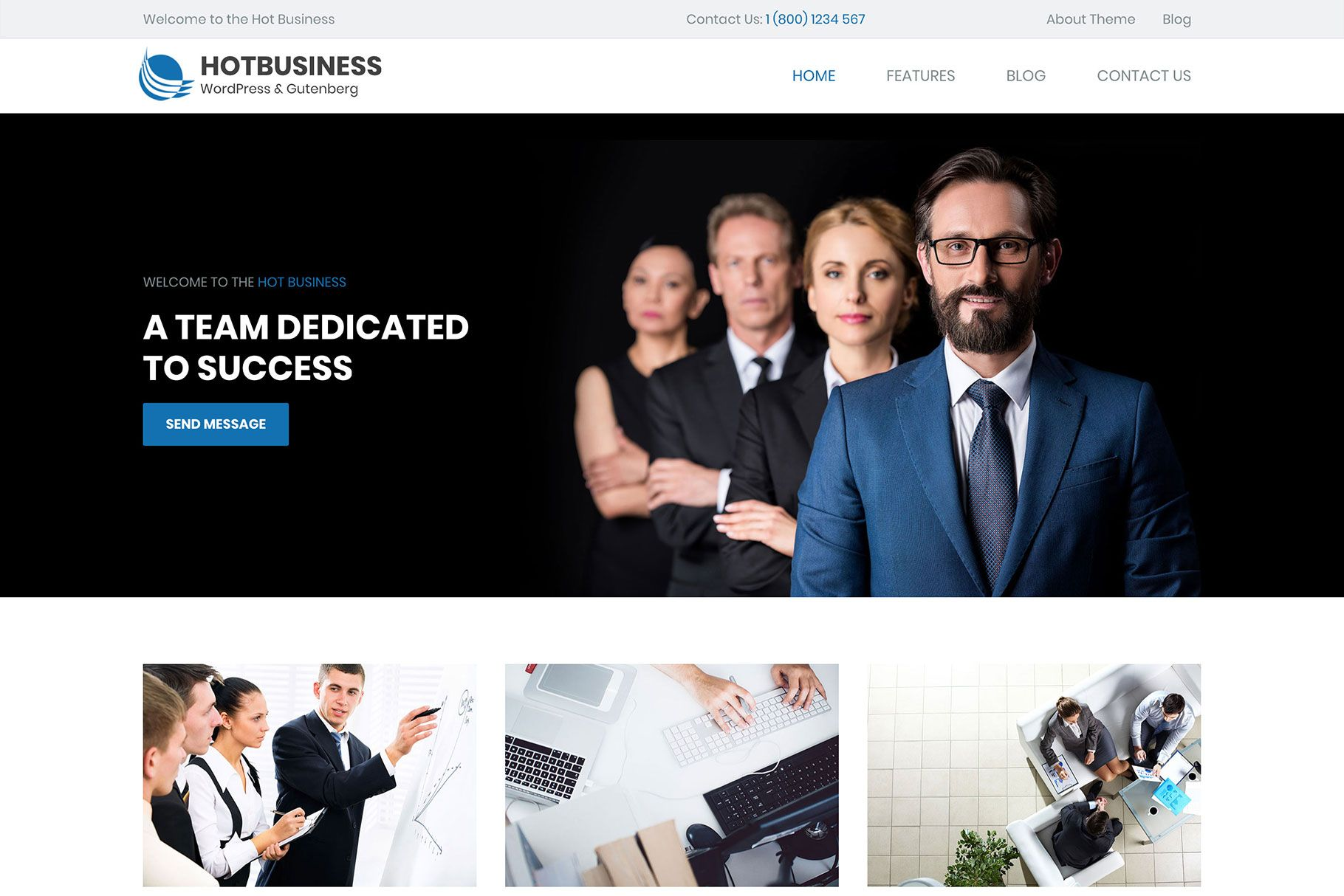 Hot Business - WordPress Gutenberg Theme Screenshot 1