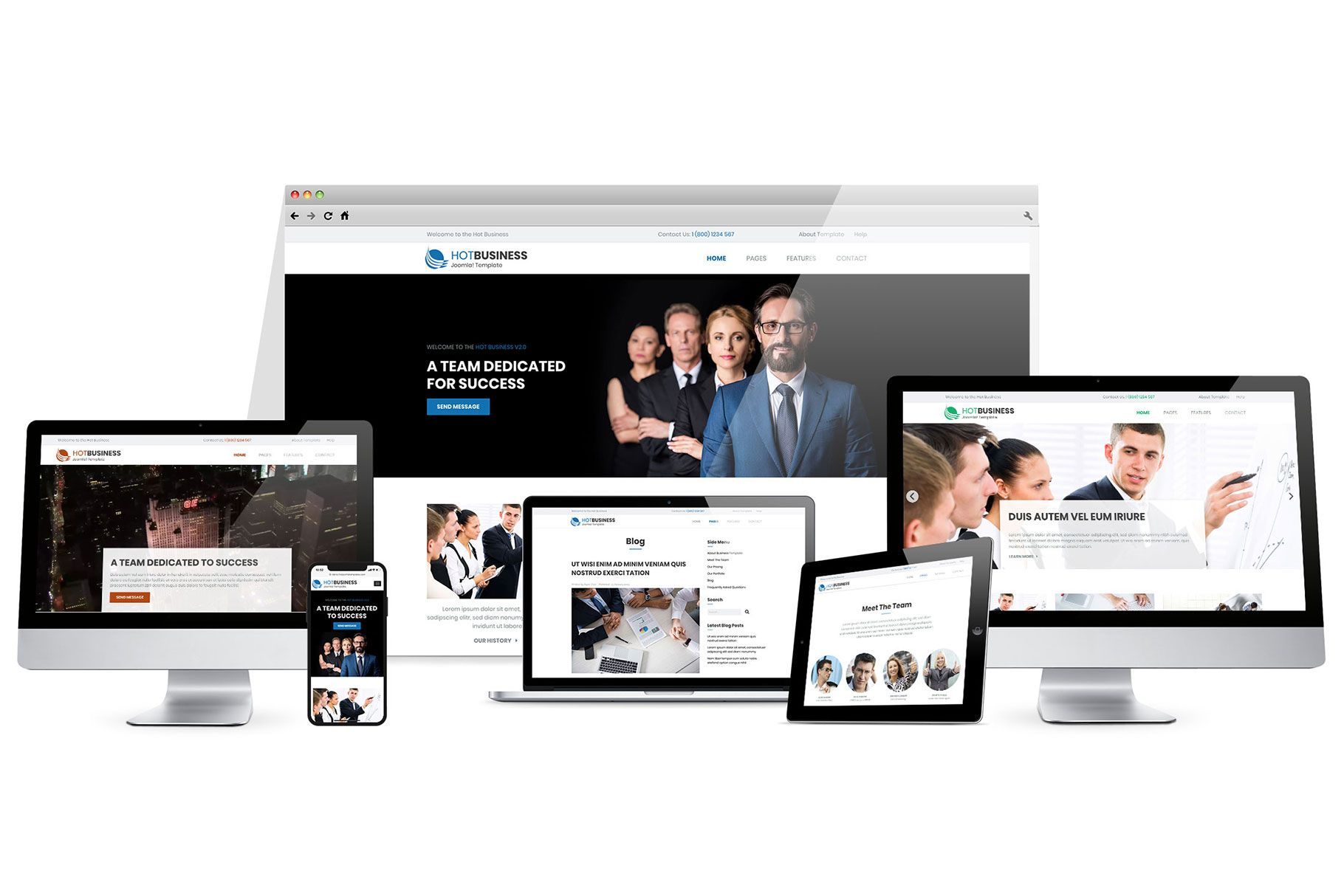 Hot Business - WordPress Gutenberg Theme Screenshot 4