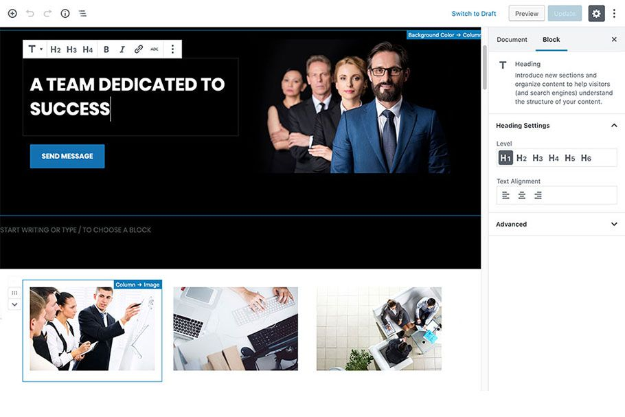 Hot Business - WordPress Gutenberg Theme Screenshot 6