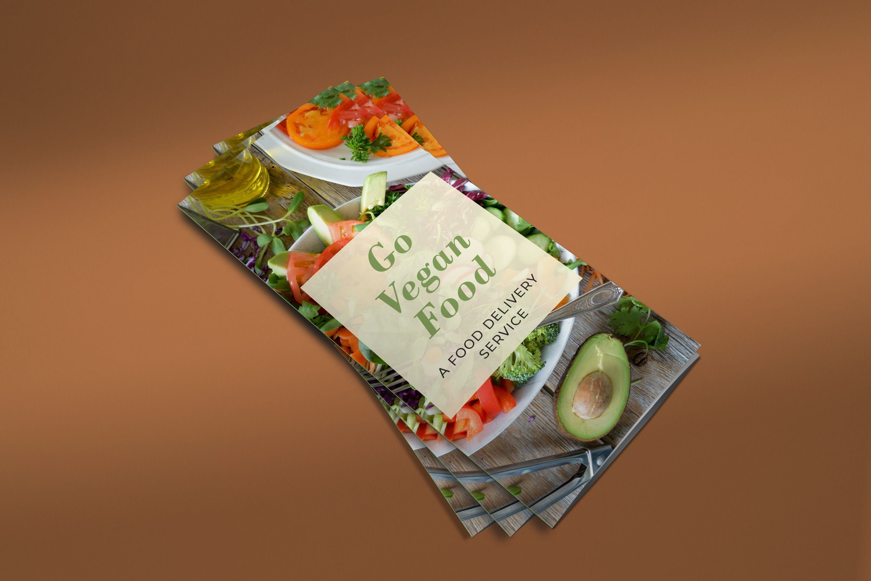 Trifold Vegan Food Brochure - 2 Templates Screenshot 3