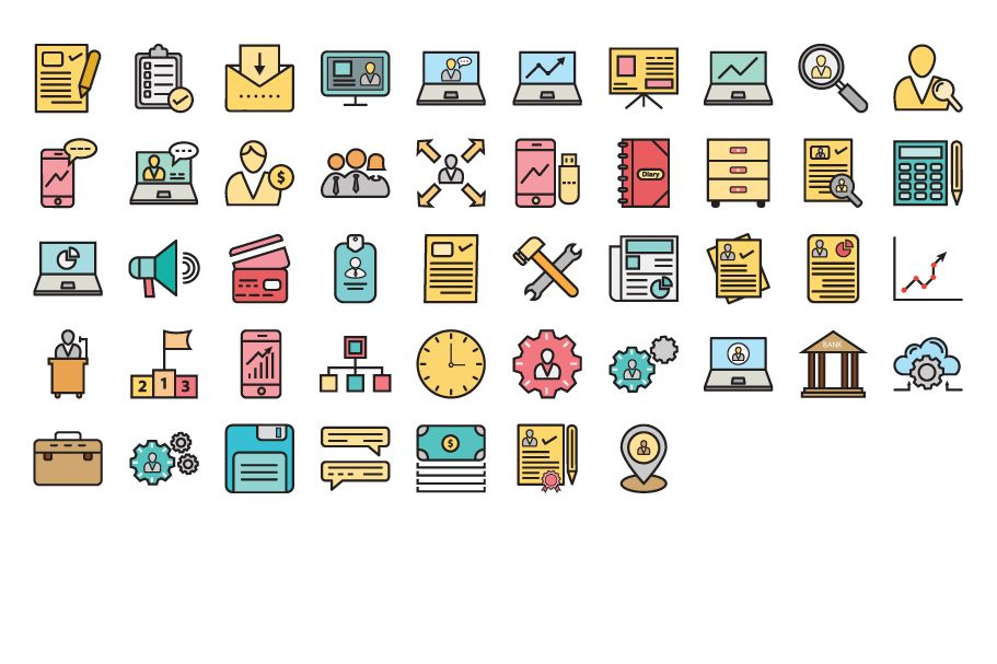 97 Corporate Vector Icons Pack  Screenshot 2