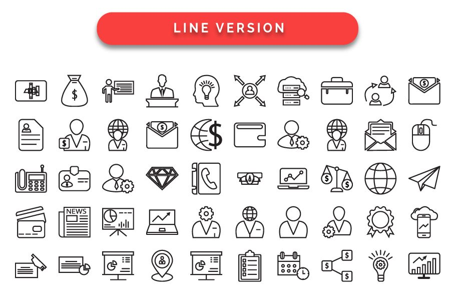 97 Corporate Vector Icons Pack  Screenshot 3